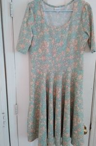 NWOT LulaRoe Watercolor Nicole Dress XL